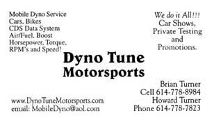 Thanks to Dynotune Motorsports for all the tuning!