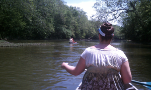 Canoeing with family.